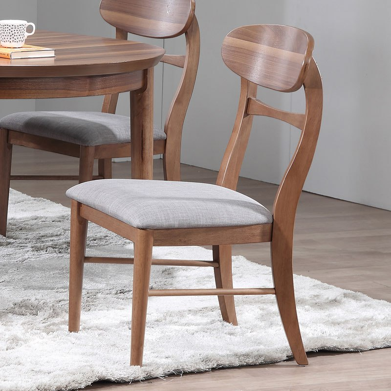 Mid Modern Oval Back Side Chair (Set Of 2)