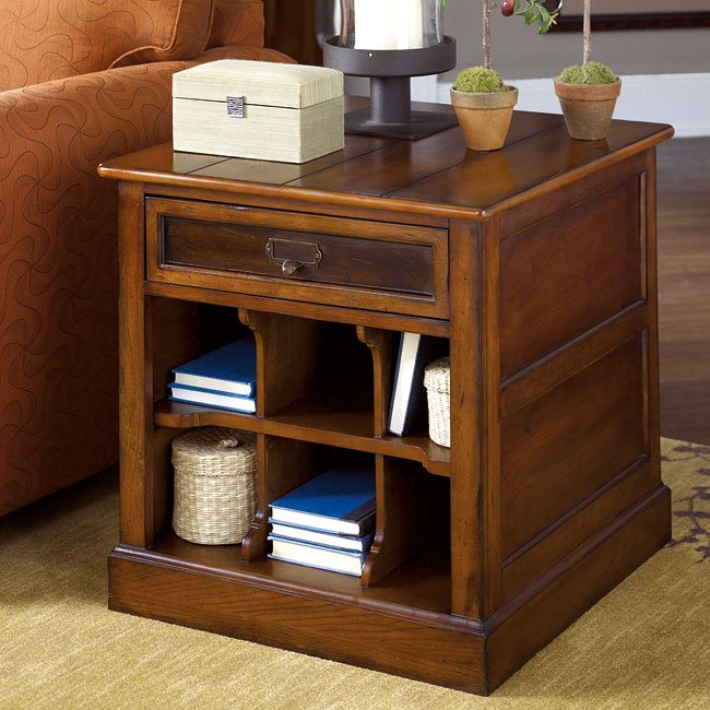 Mercantile Rectangular Storage End Table By Hammary Furniturepick