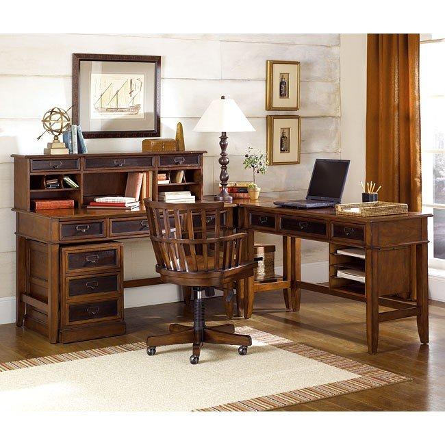 Mercantile L Shaped Desk Home Office Set