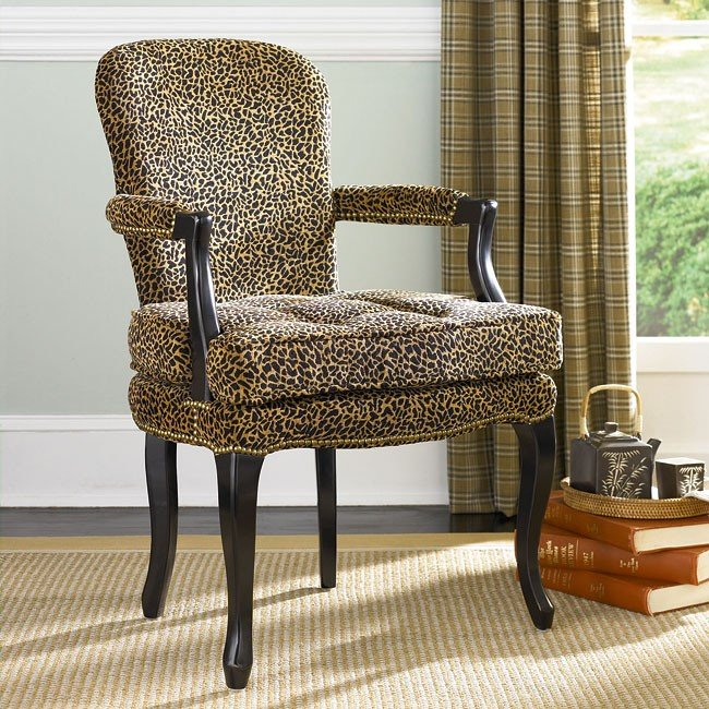 Leopard Accent Chair By True Contemporary: Hidden Treasures Leopard Print Accent Chair By Hammary