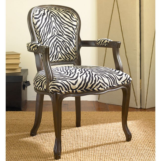 Missoni Style Print Accent Chair: Hidden Treasures Zebra Print Accent Chair