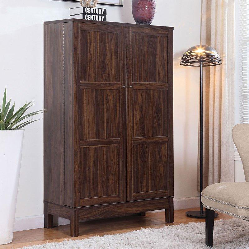 Dark Walnut Kitchen Cabinets: Dark Walnut Bar Cabinet By Coaster Furniture