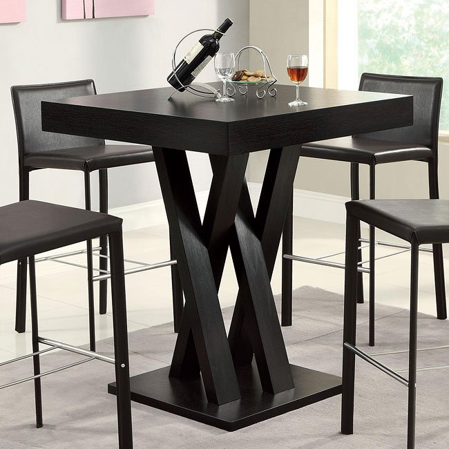 Crisscross Square Bar Table By Coaster Furniture 1 Reviews Furniturepick