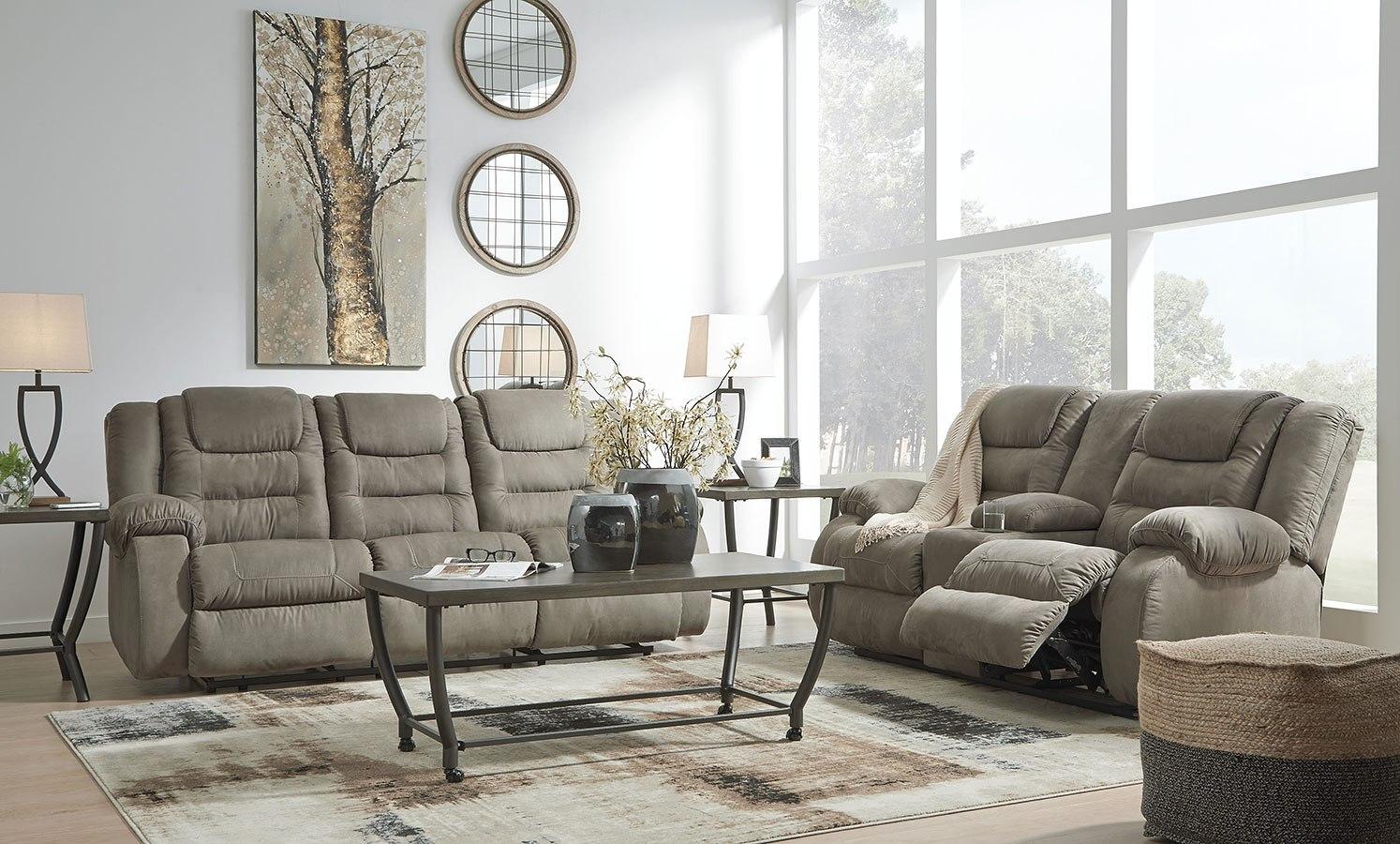Segburg Cobblestone Reclining Living Room Set By Signature