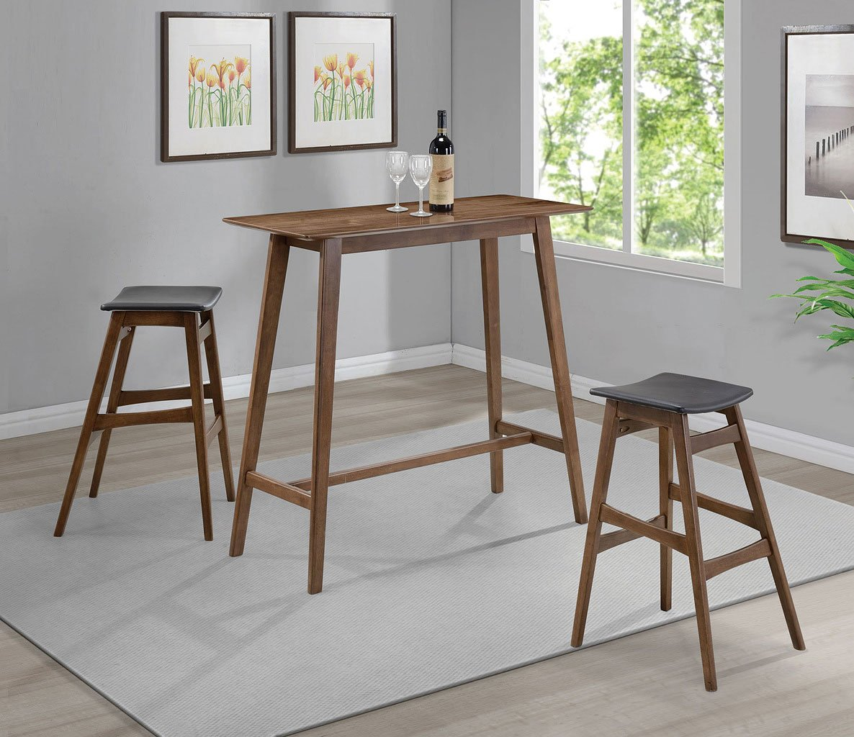 Modern Bar Sets: Mid-Century Modern Rectangular Bar Table Set By Coaster