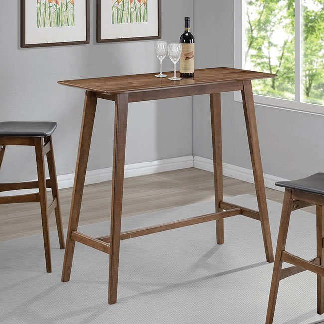 Mid Century Modern Rectangular Bar Table By Coaster Furniture
