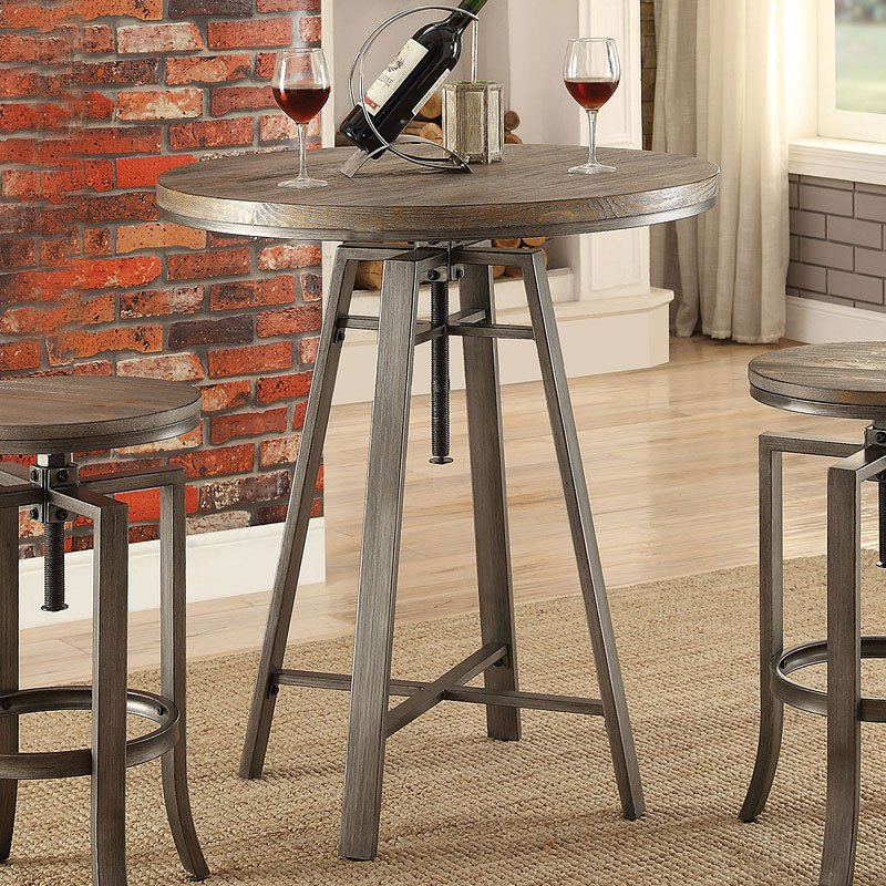 Industrial Adjustable Bar Table Home Bar And Game Room