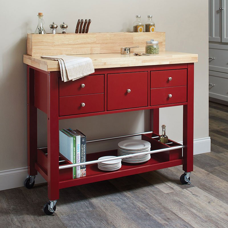 Natural Kitchen Cart Red Kitchen Islands And Serving