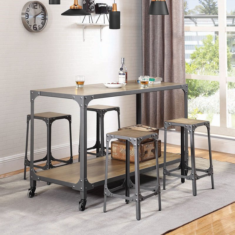 kitchen island set industrial kitchen island set by coaster furniture furniturepick 6733