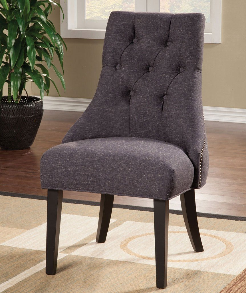 Parson Side Chair Grey Set Of 2 By Coaster Furniture