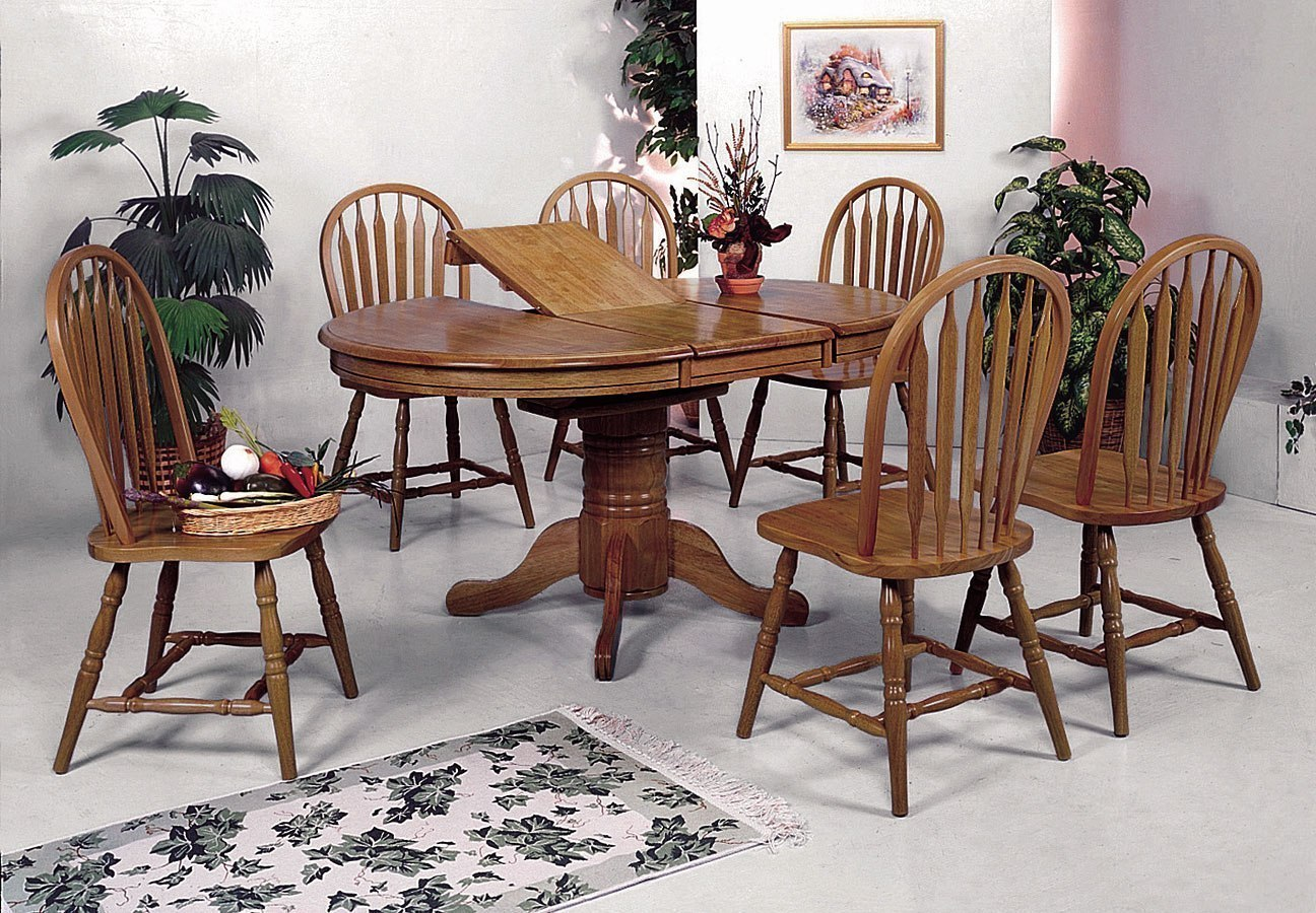 Farm House Oval Dining Room Set By Crown Mark Furniture