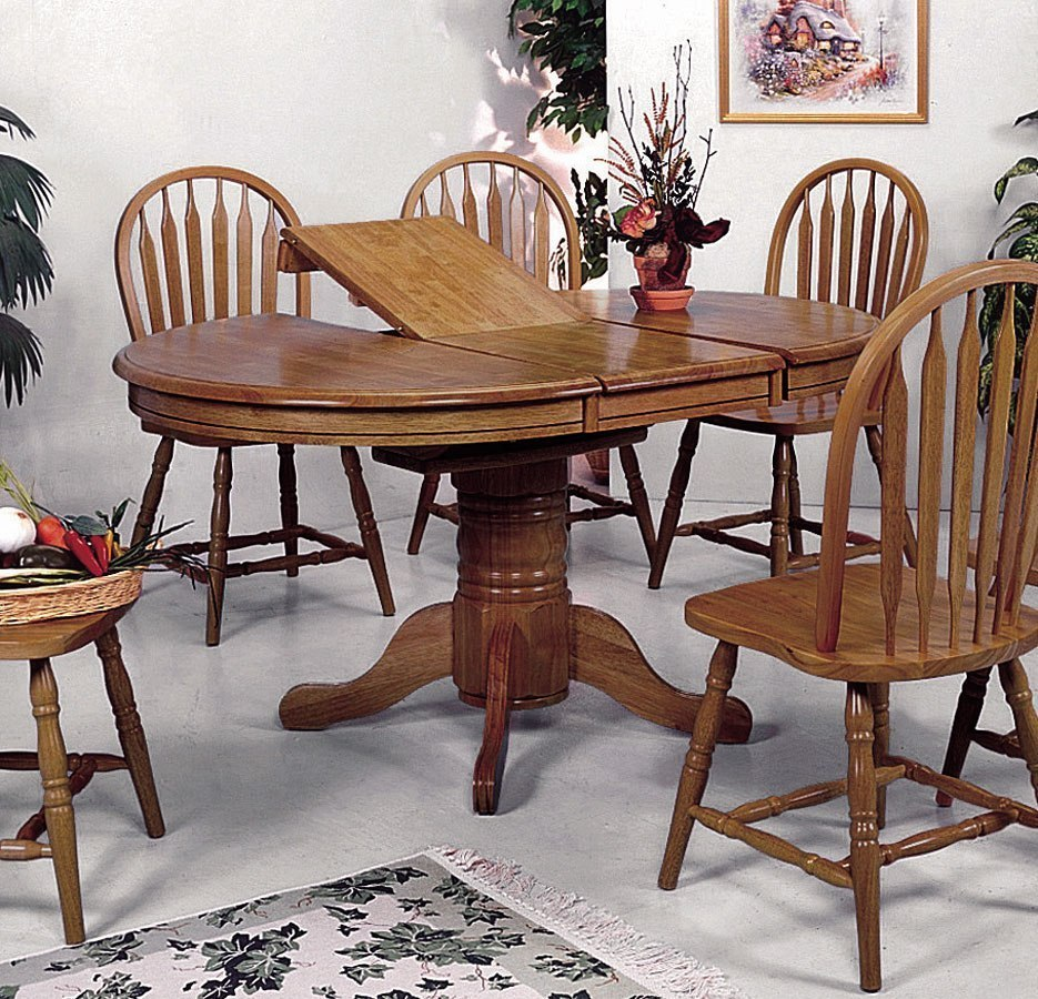 Oval Dining Room Table: Farm House Oval Dining Table By Crown Mark Furniture