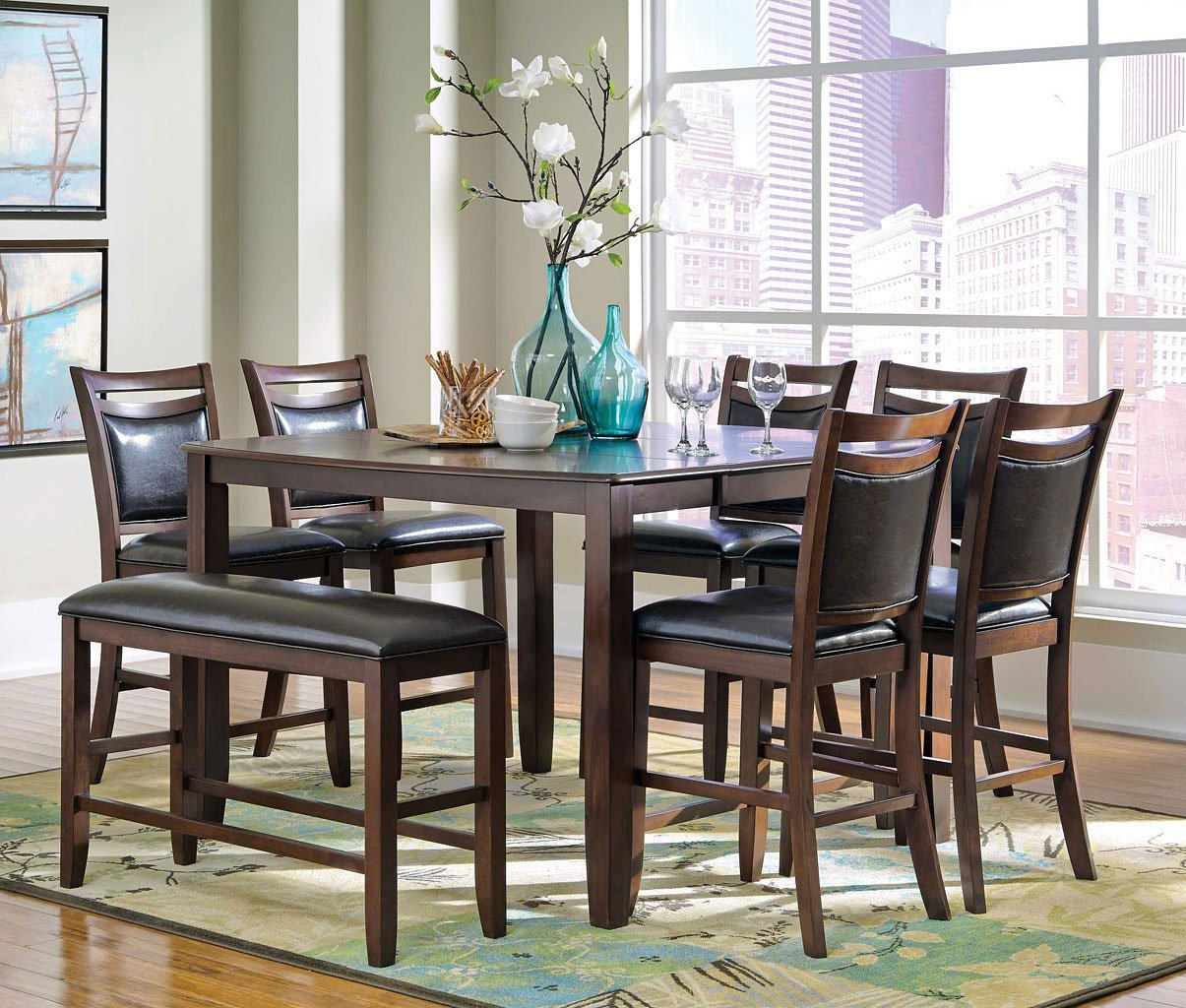Dupree counter height dining room set casual dining sets dining room and kitchen furniture - Casual kitchen sets ...