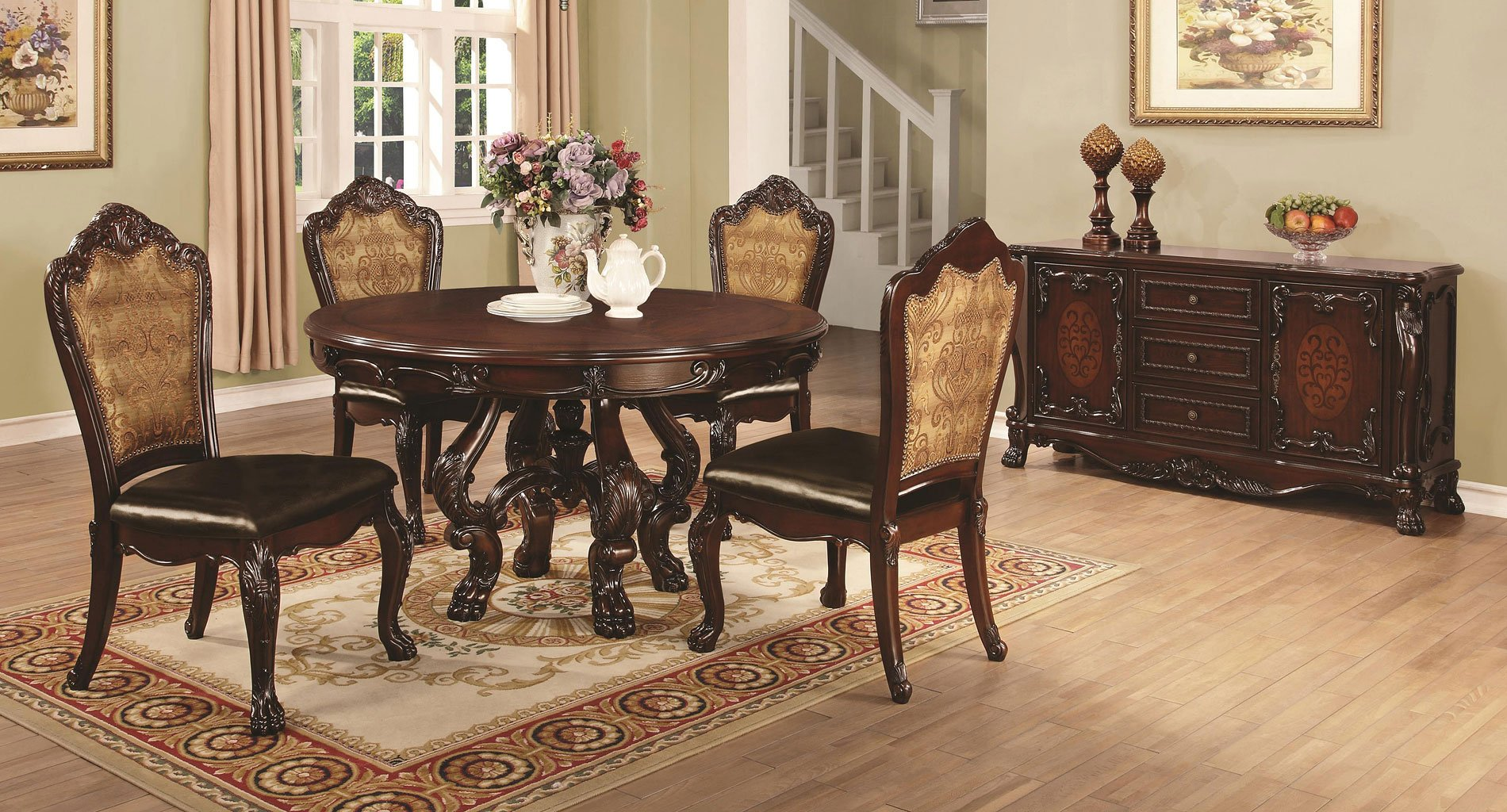 Benbrook round dining room set casual dining sets for Casual kitchen dining