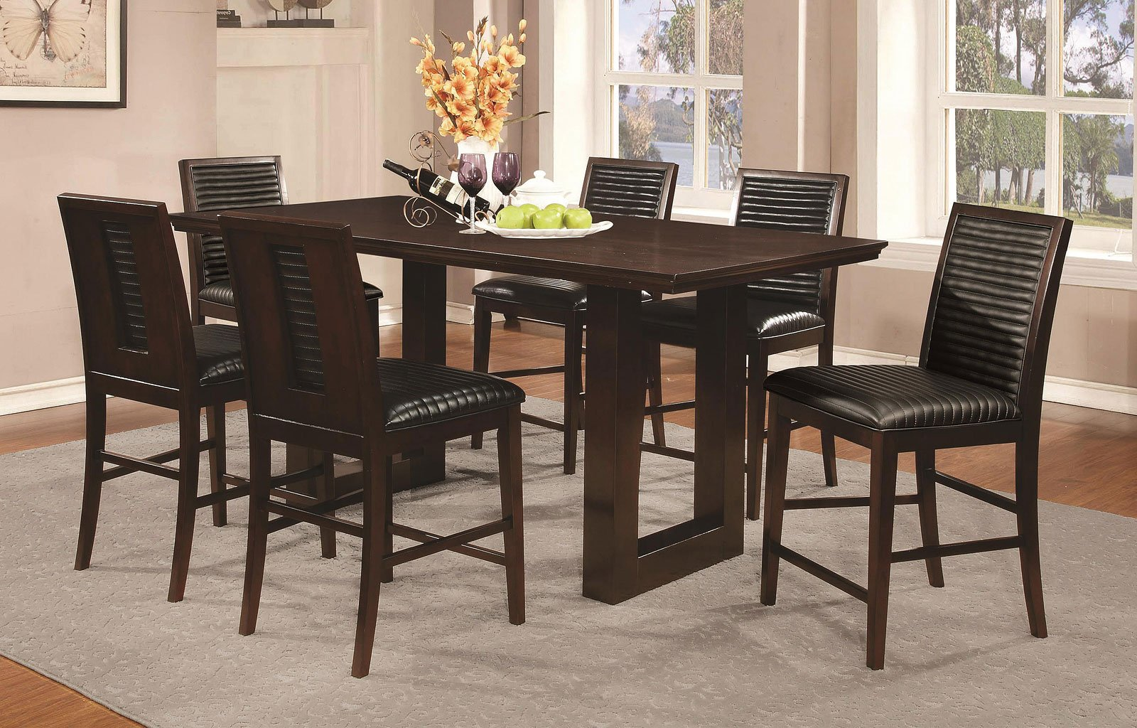 Chester counter height dining room set casual dining sets dining room and kitchen furniture - Casual kitchen sets ...