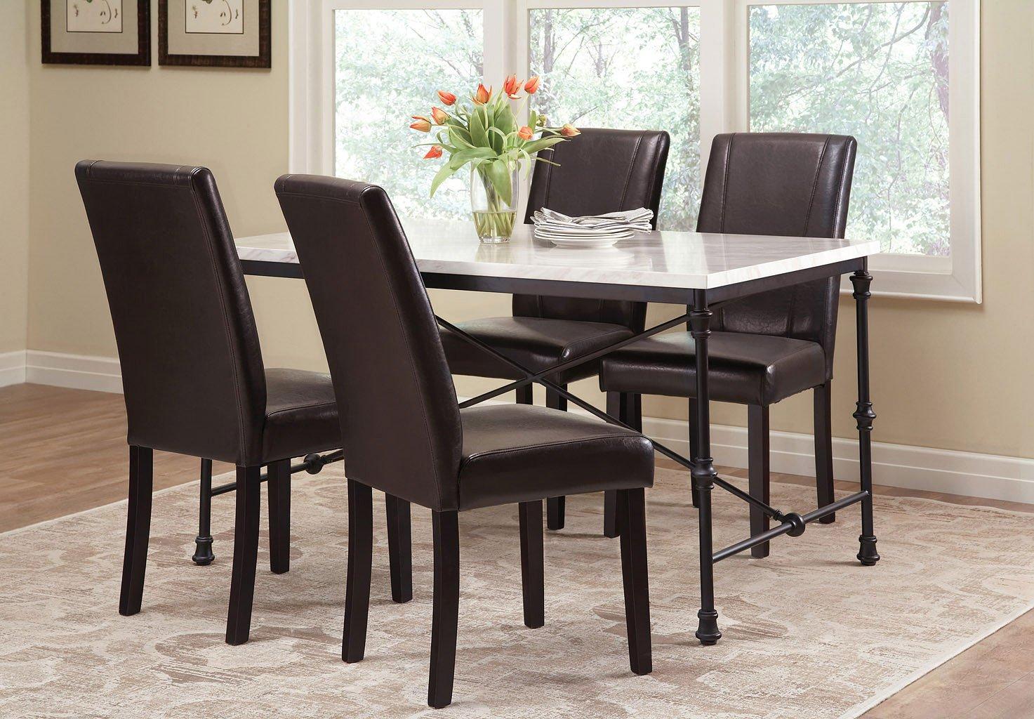 Nagel dining room set w commercial grade black chairs by - Commercial grade living room furniture ...