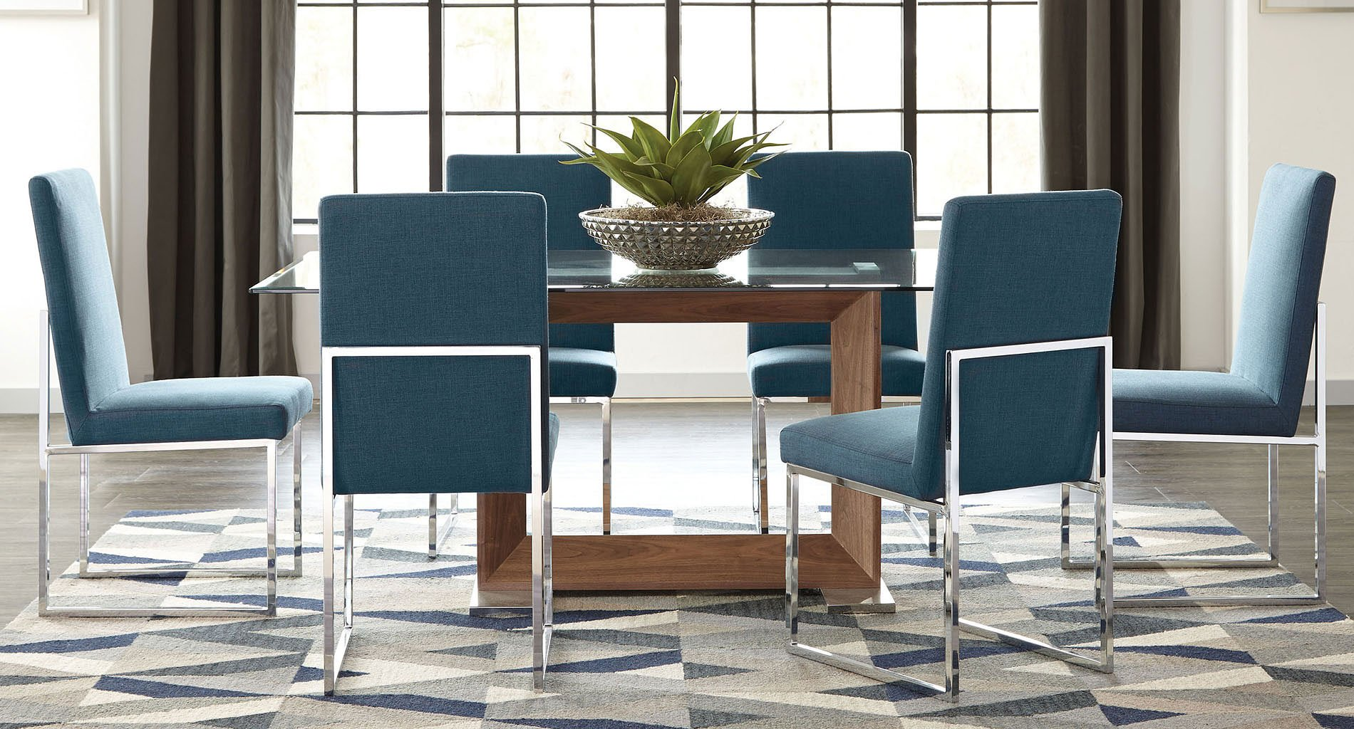 Jackson Modern Glass Dining Room Set Formal Dining Sets