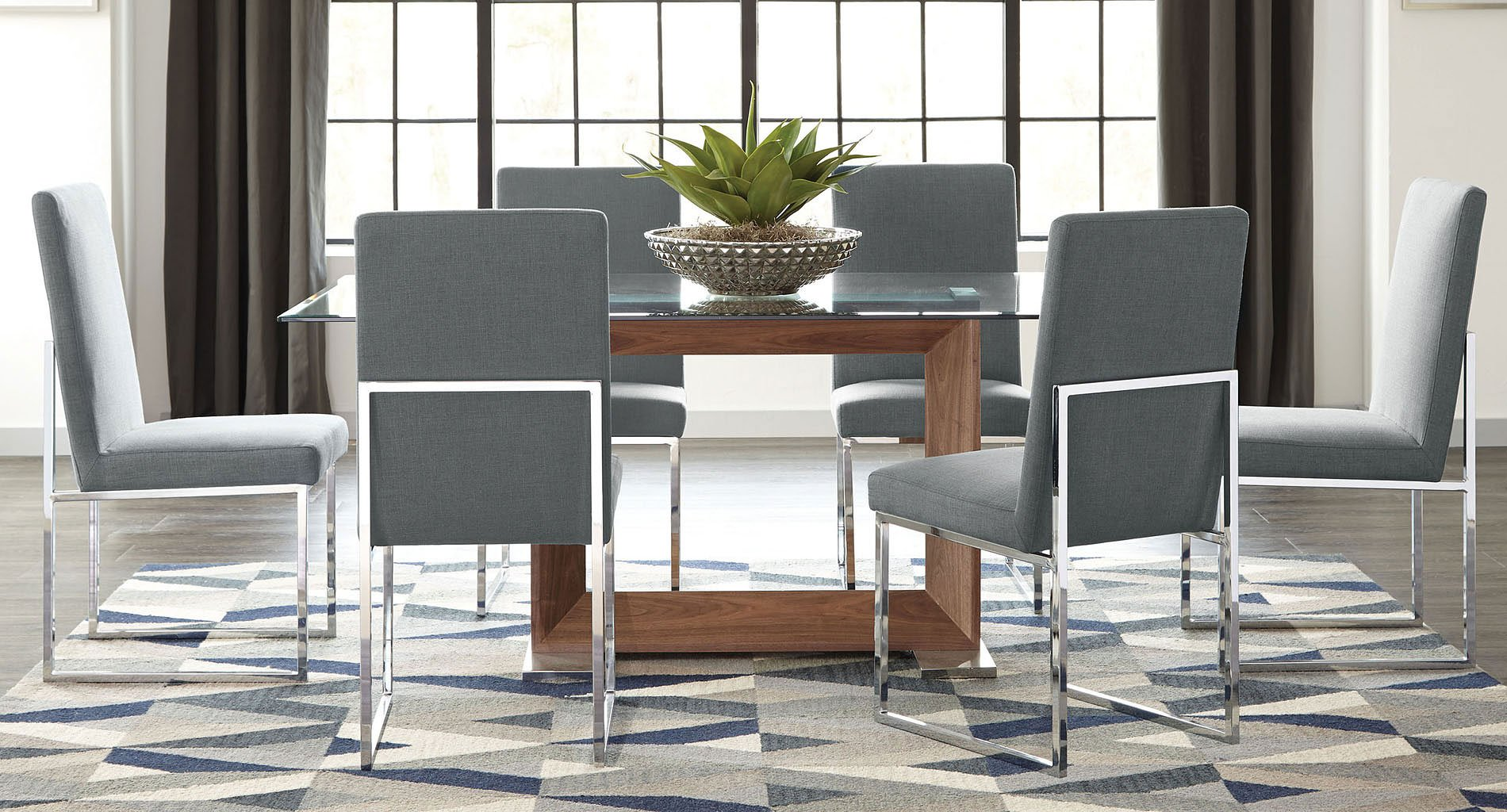 modern kitchen furniture sets jackson modern glass dining set w grey chairs formal dining sets dining room and kitchen 1859
