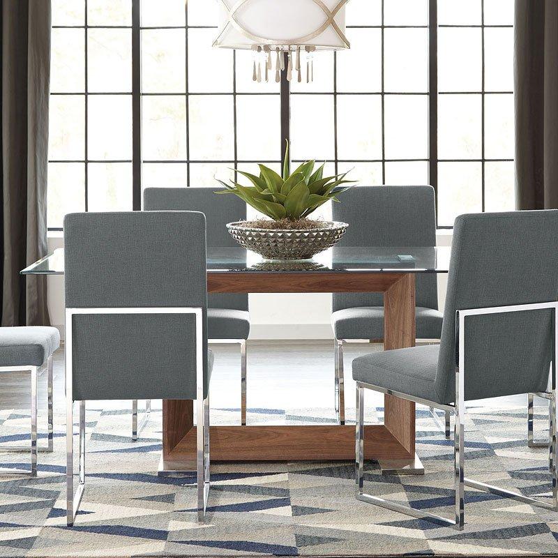 Jackson Modern Glass Dining Room Set By Coaster Furniture