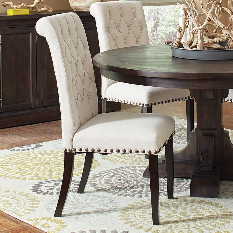Weber Round Dining Room Set W Cream Chairs Dining Room And Cool Round Dining Room Chairs