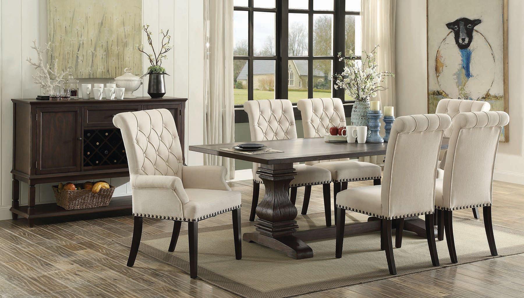 Parkins dining room set formal dining sets dining room for Coaster furniture of america