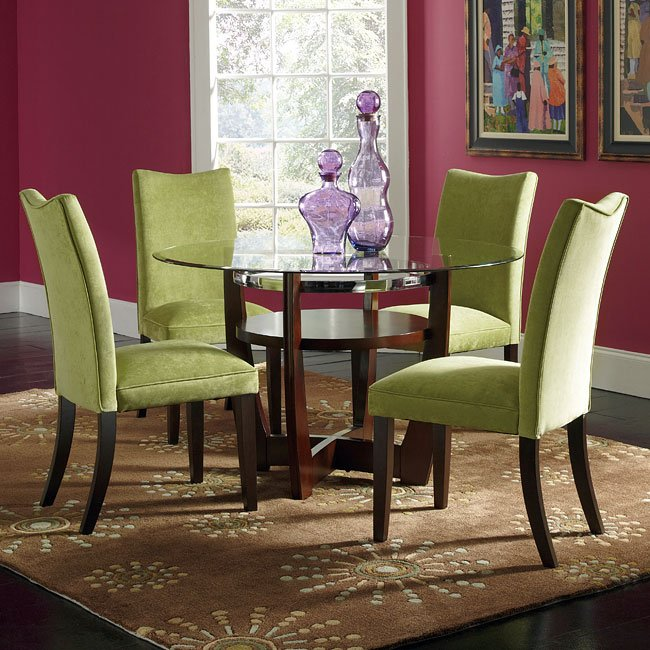 Green Dining Room Chairs: Apollo Dining Room Set W/ Green Chairs By Standard