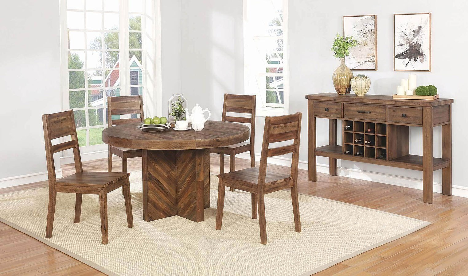 Tucson Round Dining Room Set By Coaster Furniture