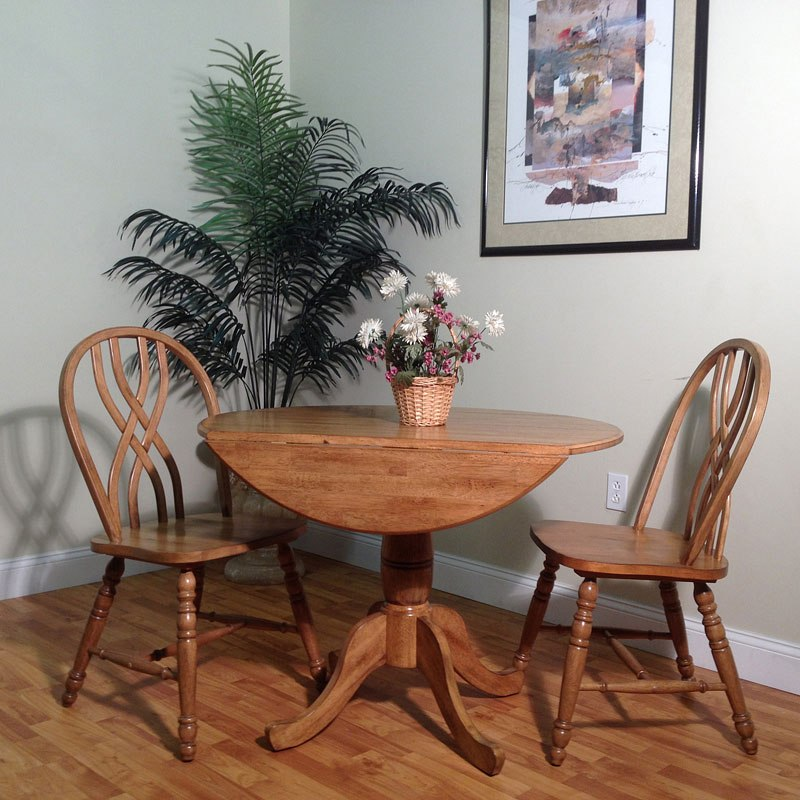 Dining Room Sets With Leaf: Rustic Drop Leaf Dining Room Set W/ Missouri Chairs By ECI