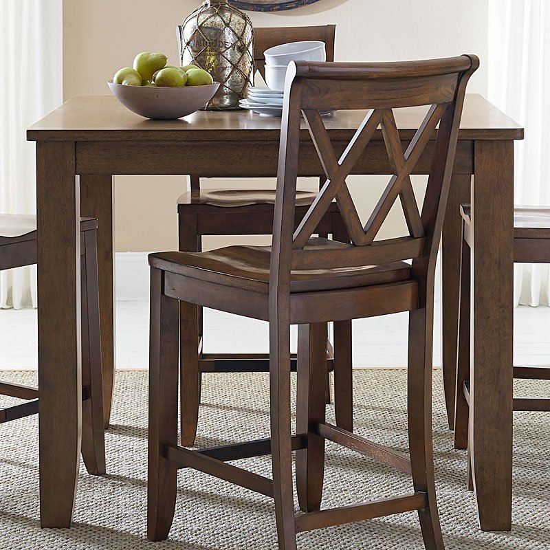Standard Dining Room Table Size: Vintage Counter Height Dining Table (Brown) By Standard