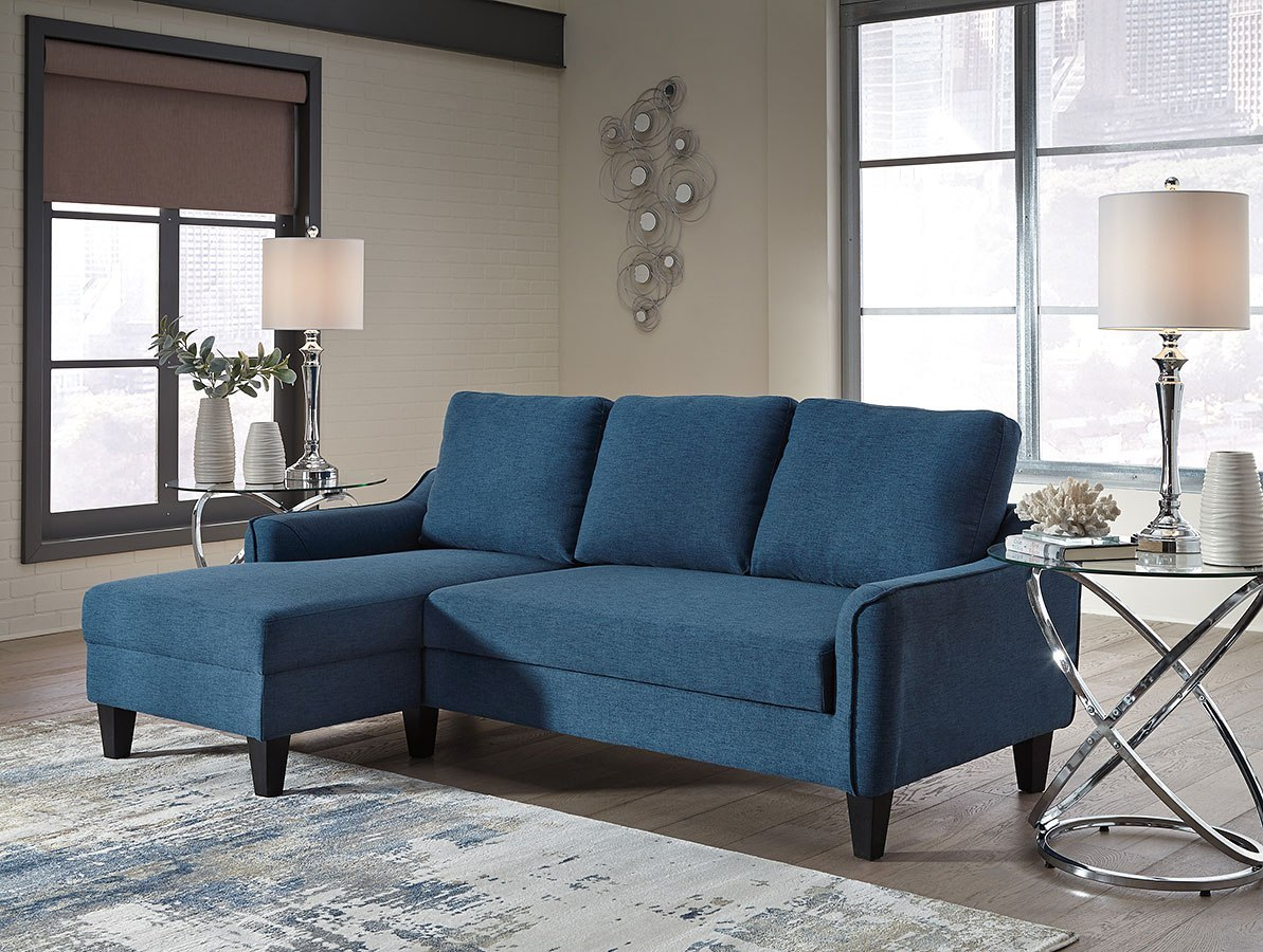 Jarreau Blue Sofa Chaise Sleeper By Signature Design By