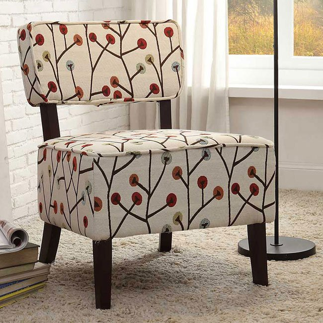 Orson Multi Color Poppies Accent Chair Accent Chairs Living Room Furniture Living Room