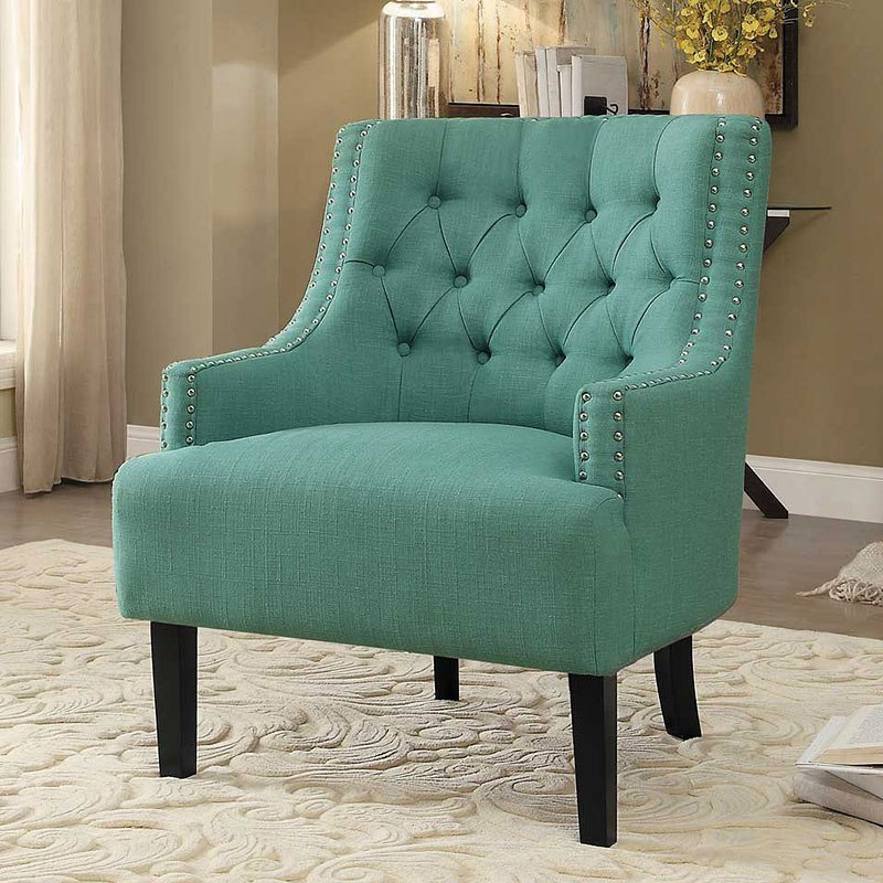 Charisma Teal Accent Chair By Homelegance Furniturepick