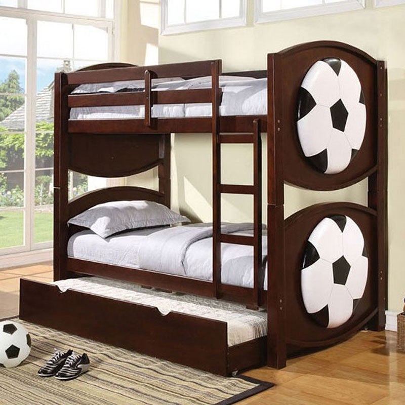 All Star Soccer Twin Bunk Bed By Acme Furniture Furniturepick