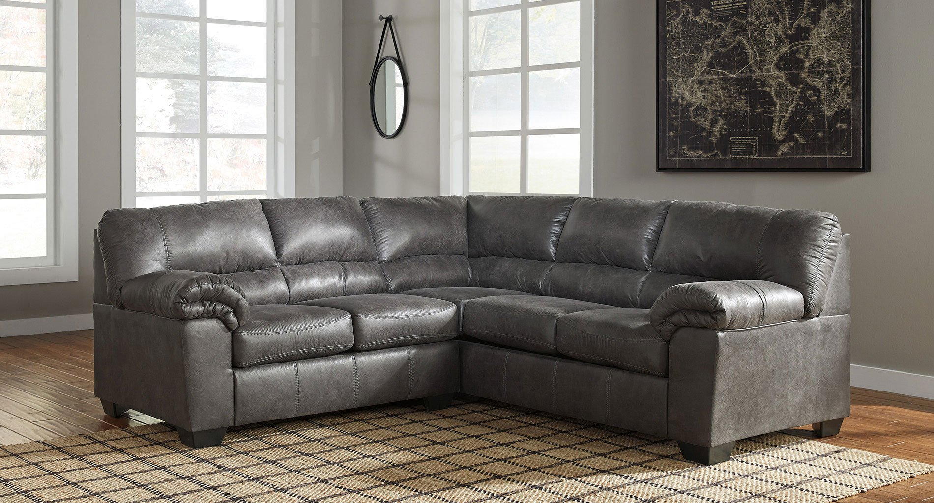 Bladen Slate Sectional Sectionals Living Room