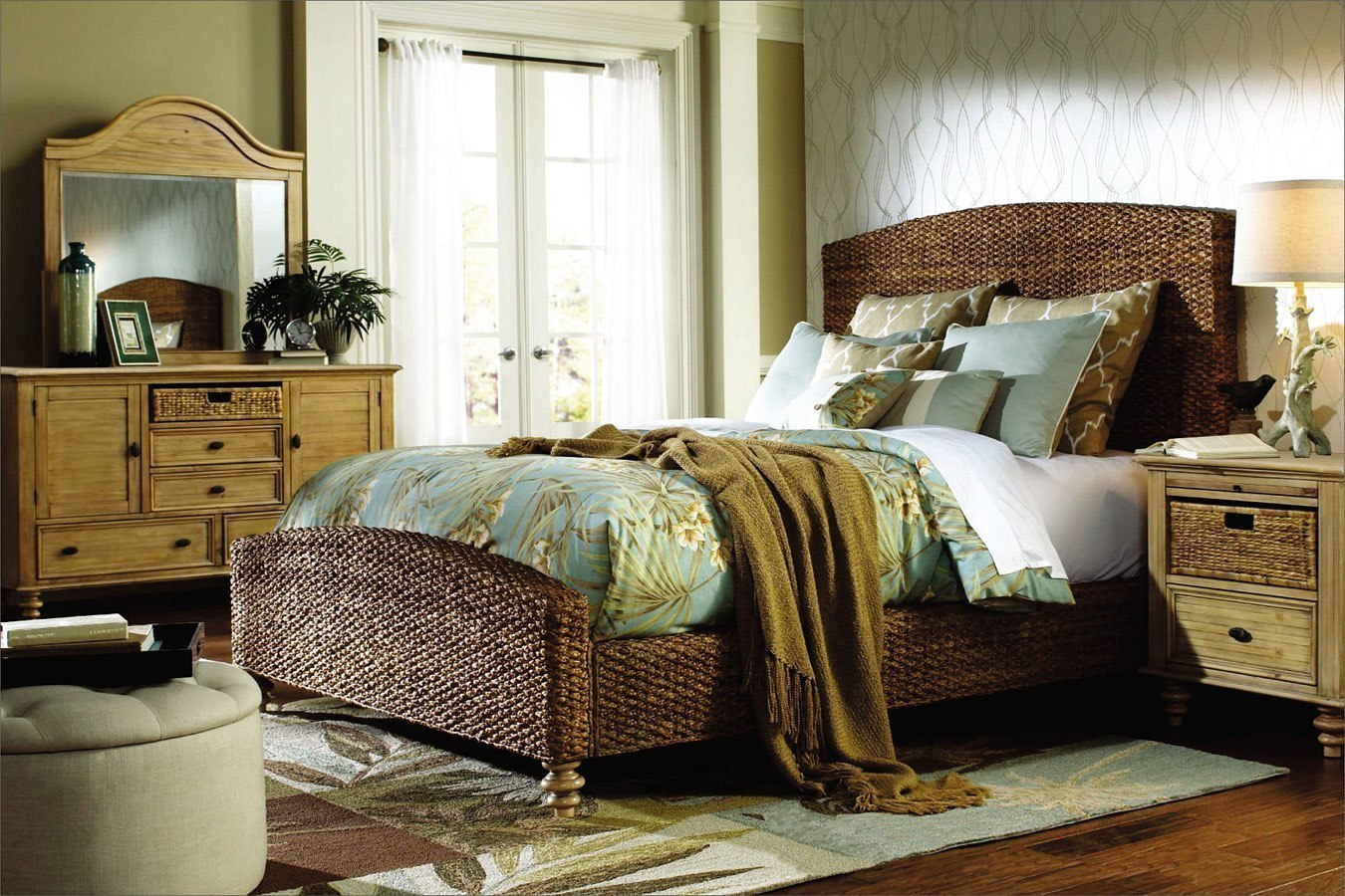 Hampton Bedroom Set w/ Seagrass Bed