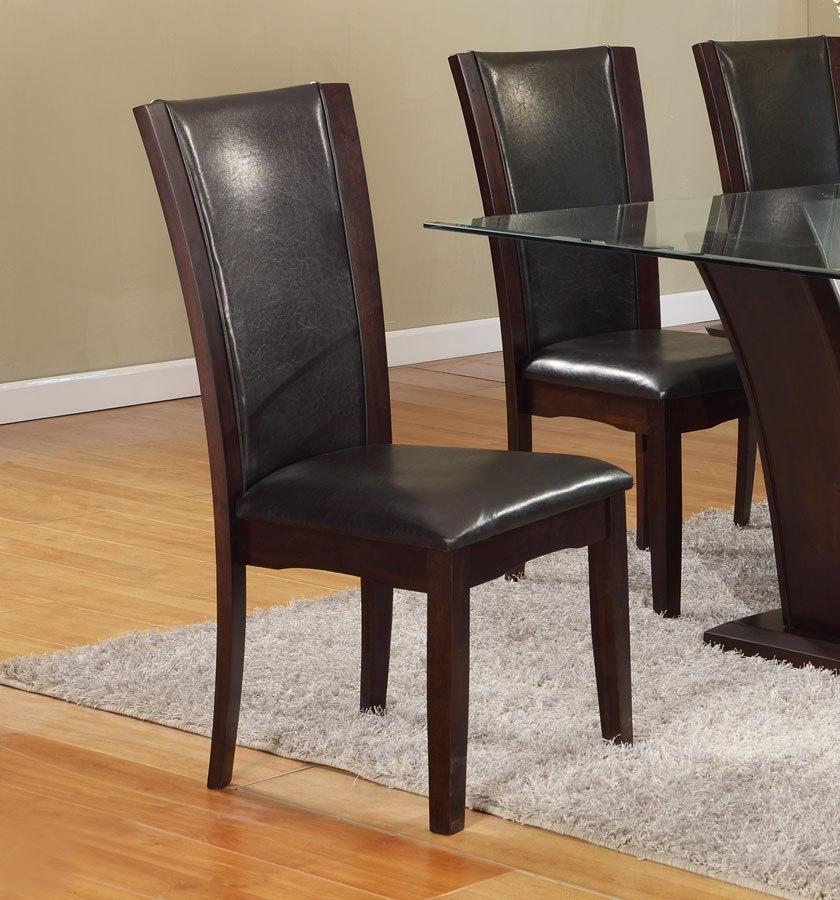 Camelia Round Dining Set W Espresso Chairs By Crown Mark