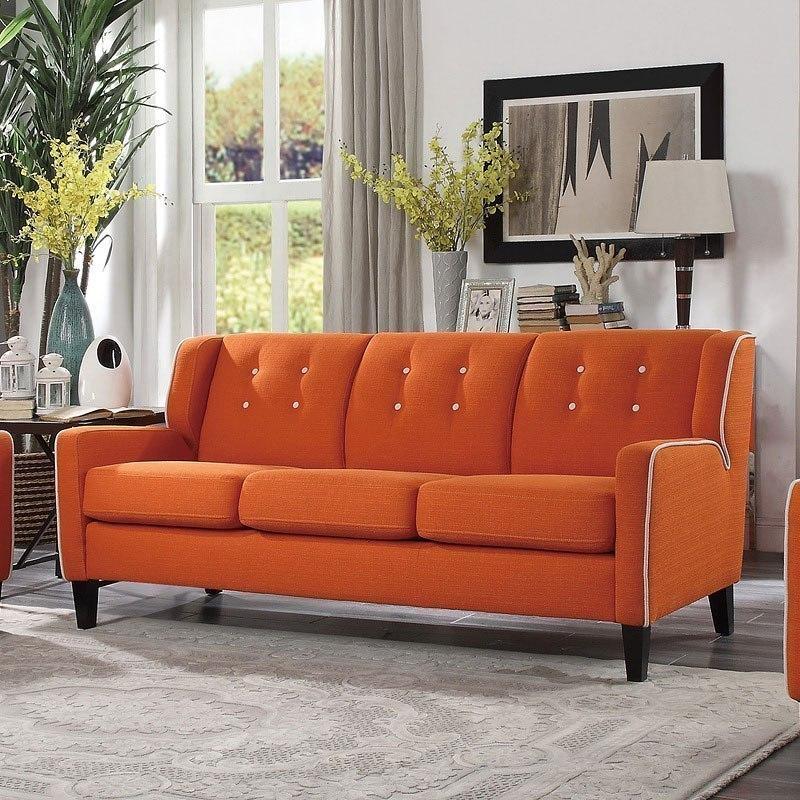 Roweena Sofa (Orange) by Homelegance | FurniturePick