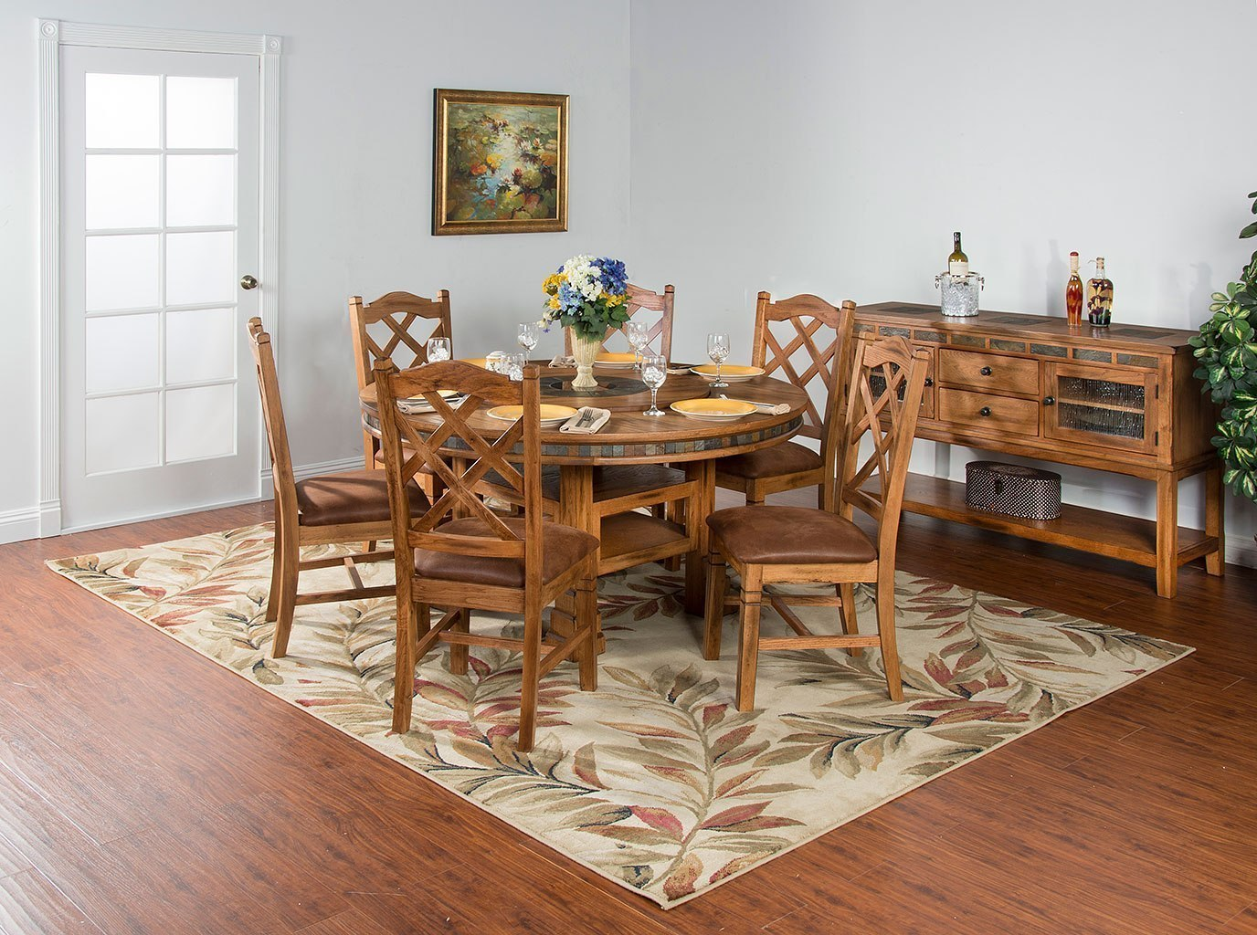 Sedona Adjustable Height Round Dining Room Set By Sunny
