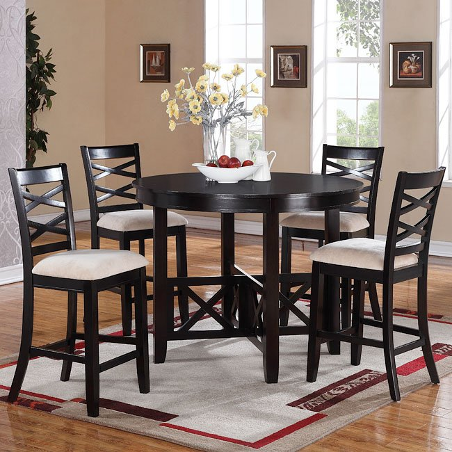 Standard Furniture Brooklyn 5 Piece Counter Height Dining: Epiphany Counter Height 5-Piece Dinette By Standard