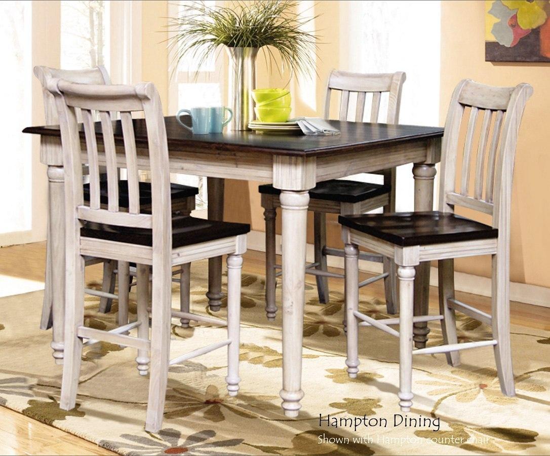 Beautiful Hampton Counter Height Dining Room Set