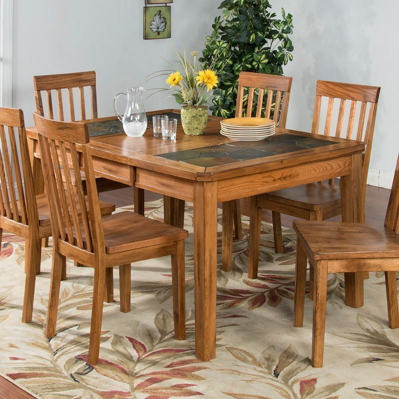 Slate Dining Room Table: Sedona Slate Top Extension Dining Room Set By Sunny