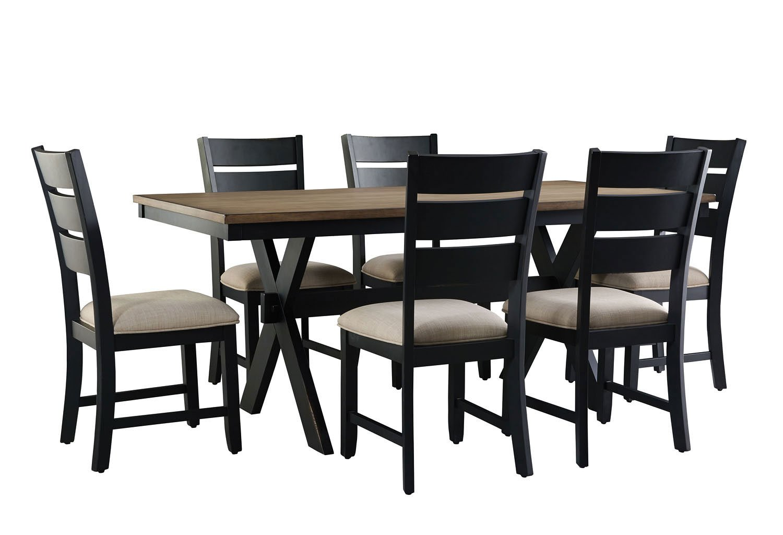 7 piece dining room set white light wood braydon 7piece dining room set and kitchen furniture