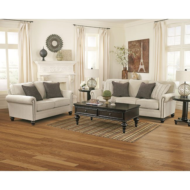 Charmant Milari Linen Living Room Set