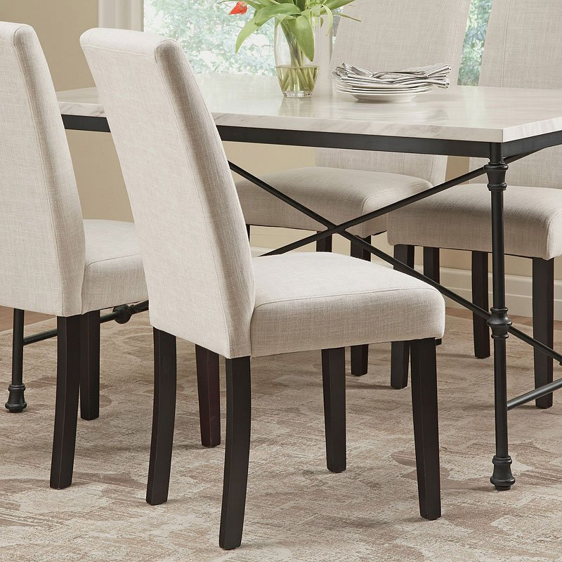 Commercial Grade Parsons Chair (Ivory) (Set Of 2)