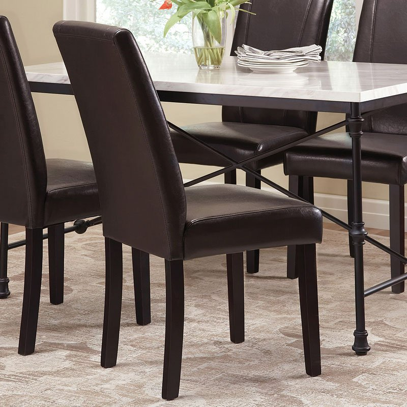 Commercial grade parsons chair black set of dining