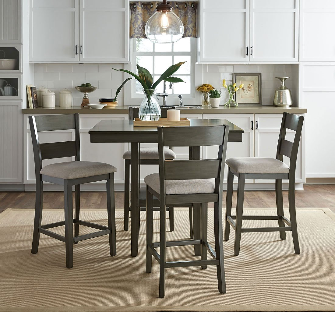 Rooms To Go Dining Sets: Loft 5-Piece Counter Height Dining Set