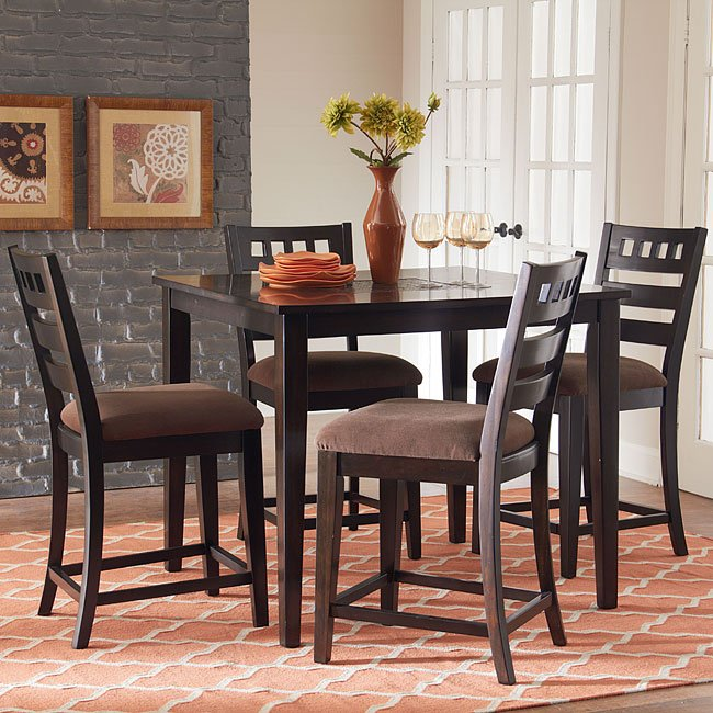Sparkle Counter Height 5 Piece Dinette