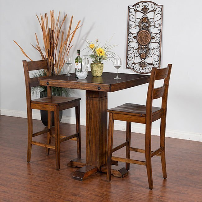 Tuscany Adjustable Height Pub Table Set By Sunny Designs Furniturepick