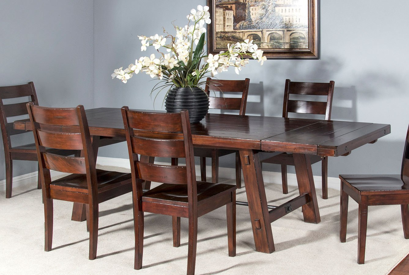 Vineyard Rustic Extension Dining Table