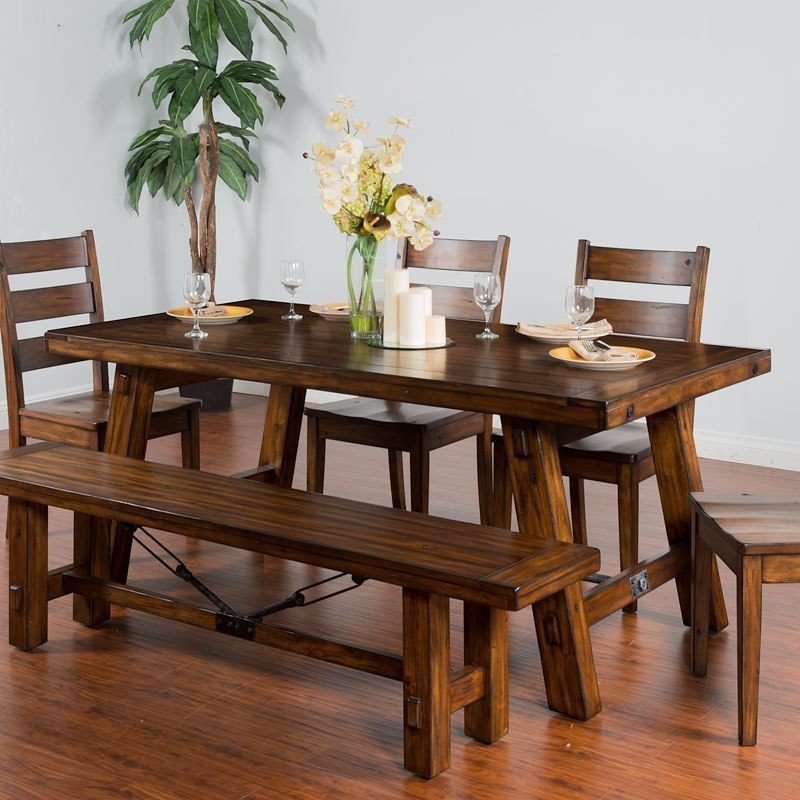 Tuscany Rectangular Extension Dining Table By Sunny Designs